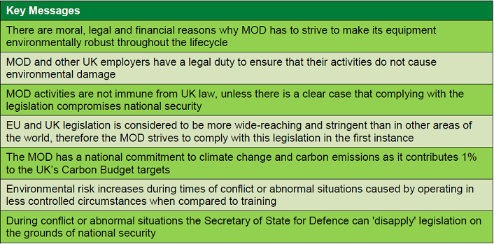 The MOD and Environmental Law